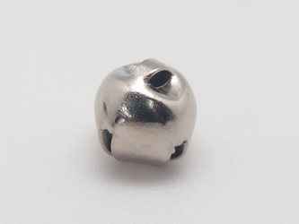 8mm Jingle Bells: Nickel (100/bag)