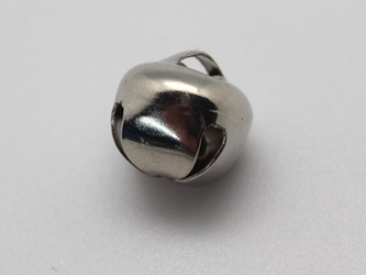 12mm Jingle Bells: Nickel (100/bag)