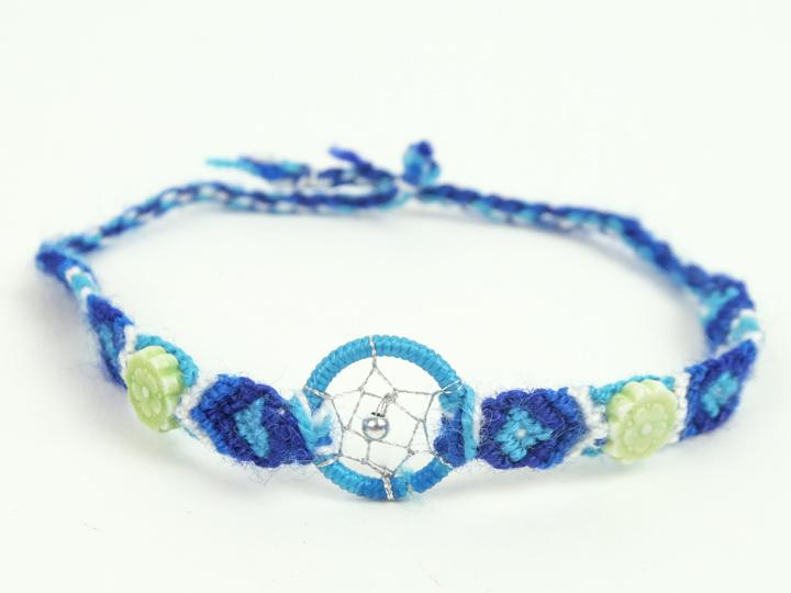 Dreamcatcher Friendship Bracelet With Ceramic Charms
