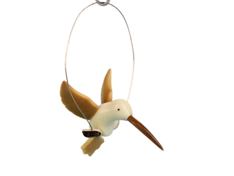 Tagua Nut Carving: Hummingbird (hanging)