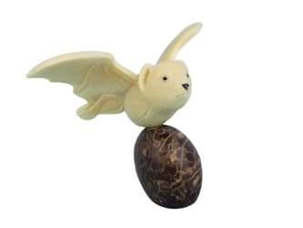 Tagua Nut Carving: Bat #2