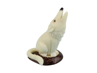 Tagua Nut Carving: Wolf