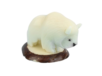 Tagua Nut Carving: Buffalo