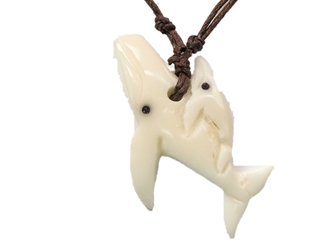 Tagua Nut Necklace: Whale & Baby