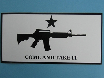 M-4 Come and Take It Bumper Sticker