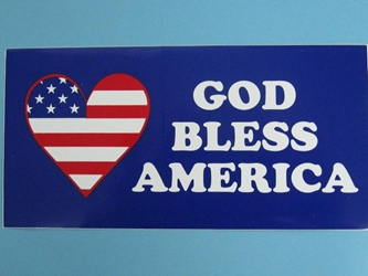 God Bless America Bumper Stick