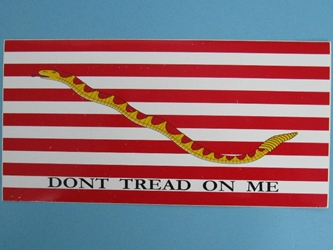 First Navy Jack Bumper Sticker