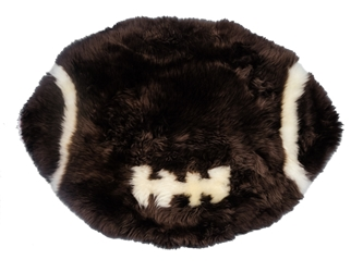 Designer Sheepskin Rug: Football/Rugby