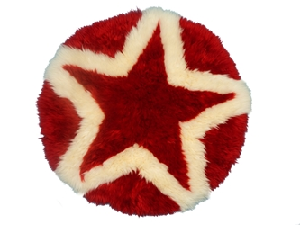 Designer Sheepskin Rug: Star