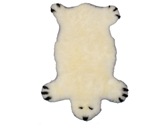 Designer Sheepskin Rug: White Bear