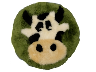 Designer Sheepskin Rug: Cow