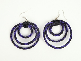 Horse Hair Earrings: Circles