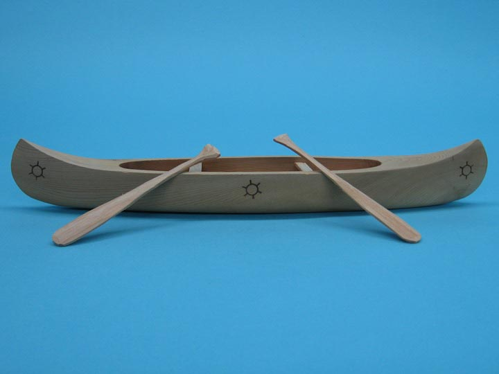 "12"" Ojibwa Cedar Canoe with Paddles"