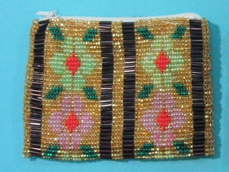 Beaded Change Purse