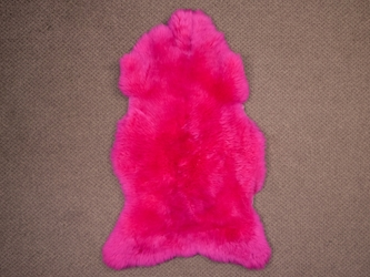 UK Sheepskin: Bold Pink: 120-130cm: Assorted