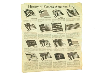 History of Famous American Flags Parchment