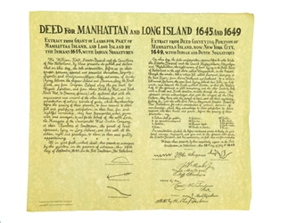 Deed for Manhattan and Long Island Parchment