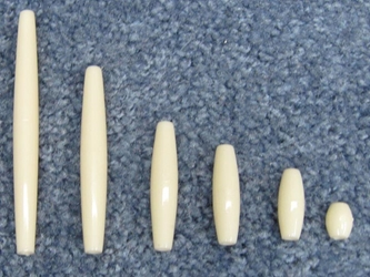 White Plastic Hairpipe (100/box) plastic beads