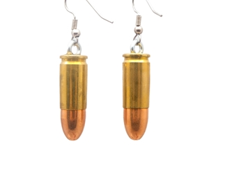 Bullet Earrings: 45CAL Brass