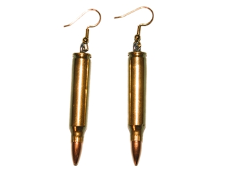 Bullet Earrings: 223CAL Brass