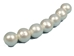 "Big-Hole Pearl 3"" Strand: AAA-: White: 11mm - 1262-028WH (S)"