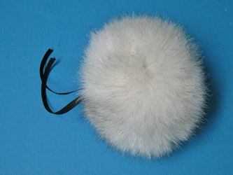 Fur Pompom: Blue Fox: Natural fox fur pompoms, fox fur pom poms