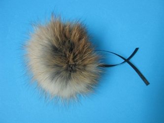 Fur Pompom: Red Fox: Natural fox fur pompoms, fox fur pom poms