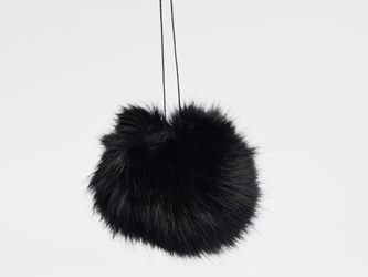 Dyed Black Czech Rabbit Fur Pompom rabbit fur pompoms, rabbit fur pom poms