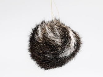 Natural Czech Rabbit Fur Pompom rabbit fur pompoms, rabbit fur pom poms
