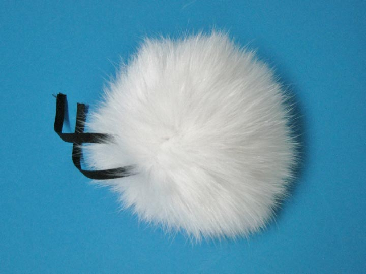 Fur Pompom: Shadow Fox: Natural fox fur pompoms, fox fur pom poms