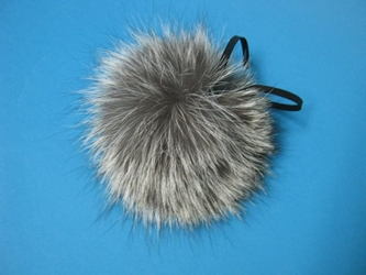 Fur Pompom: Silver Fox: Natural fox fur pompoms, fox fur pom poms