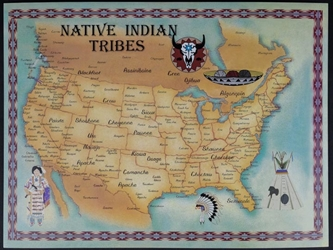 Native American Tribe Map