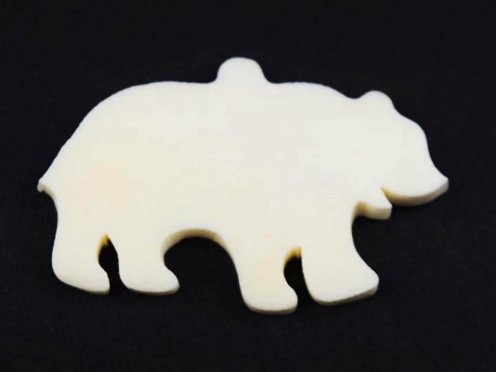 Walking Bear Bone Pendant: Medium bone pendants
