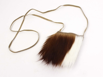 Leather Bag with Springbok Fur