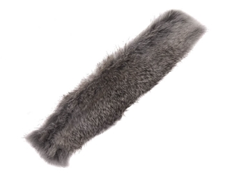 Czech Rabbit Fur Cuff: Chinchilla: Assorted rabbit fur cuffs, snap bracelets, snap wristbands, slap bracelets, fur wristbands, fur bracelets