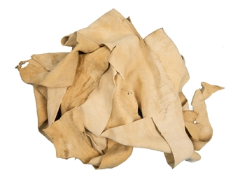 Commercial Brain-Tanned Elk Leather Scraps (lb)