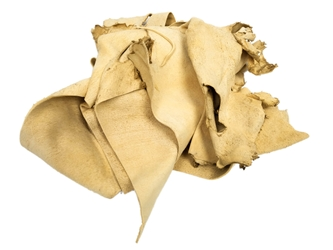 Commercial Brain-Tanned Deer Leather Scraps (lb)