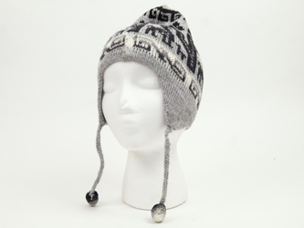 Alpaca Hat: Adult: Single Sided: Subdued Colors: Assorted