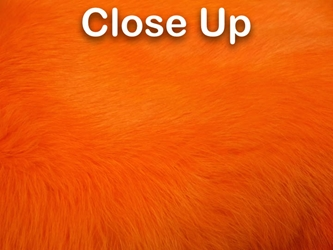 Dyed Better Rabbit Skin: Orange