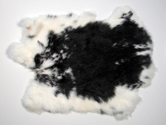 Better Rabbit Skin: Spotted Black and White