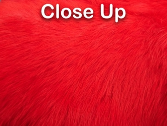 Dyed Better Rabbit Skin: Fluorescent Red