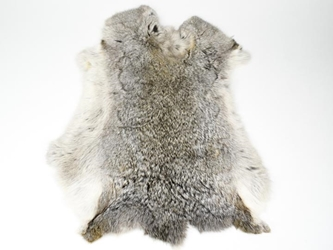 Heavy Low Grade A Czech Female Rabbit Skin: Chinchilla