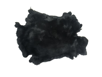 #1 Rex Rabbit: Dyed Black: Size A
