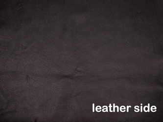 3-3.5 oz Tannery Run Moose Leather: Black (sq ft)