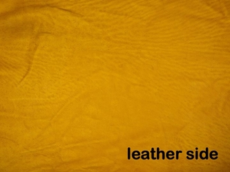 5-5.5 oz Tannery Run Moose Leather: Prairie Gold (sq ft)