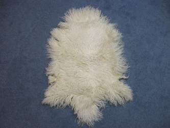 Tibet Lamb Skin: Natural White
