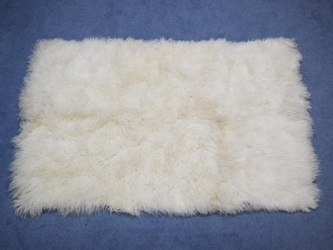 Tibet Lamb Rug: Natural White