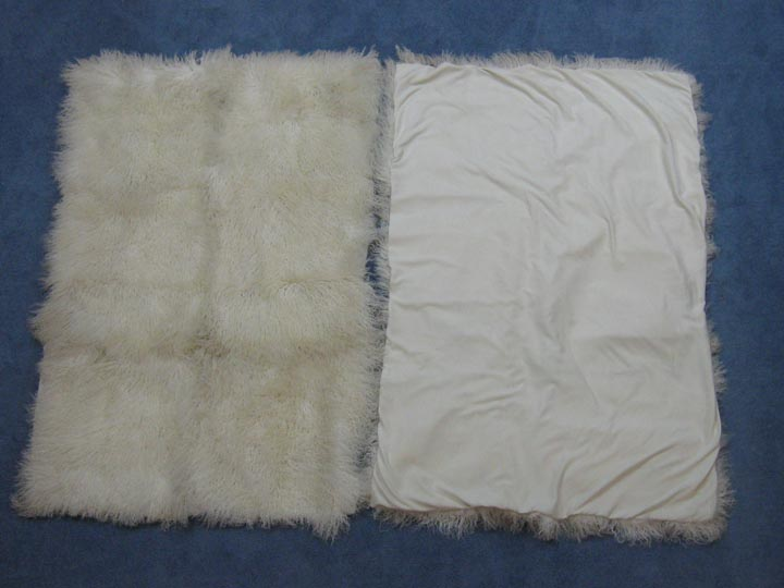 "Tibet Lamb Blanket: Medium ~48x71"": Natural White"