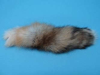 "Cross Fox Tail (12-18""): Premium Grade"