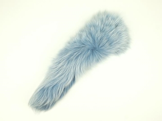 Dyed Fox Tail: Baby Blue